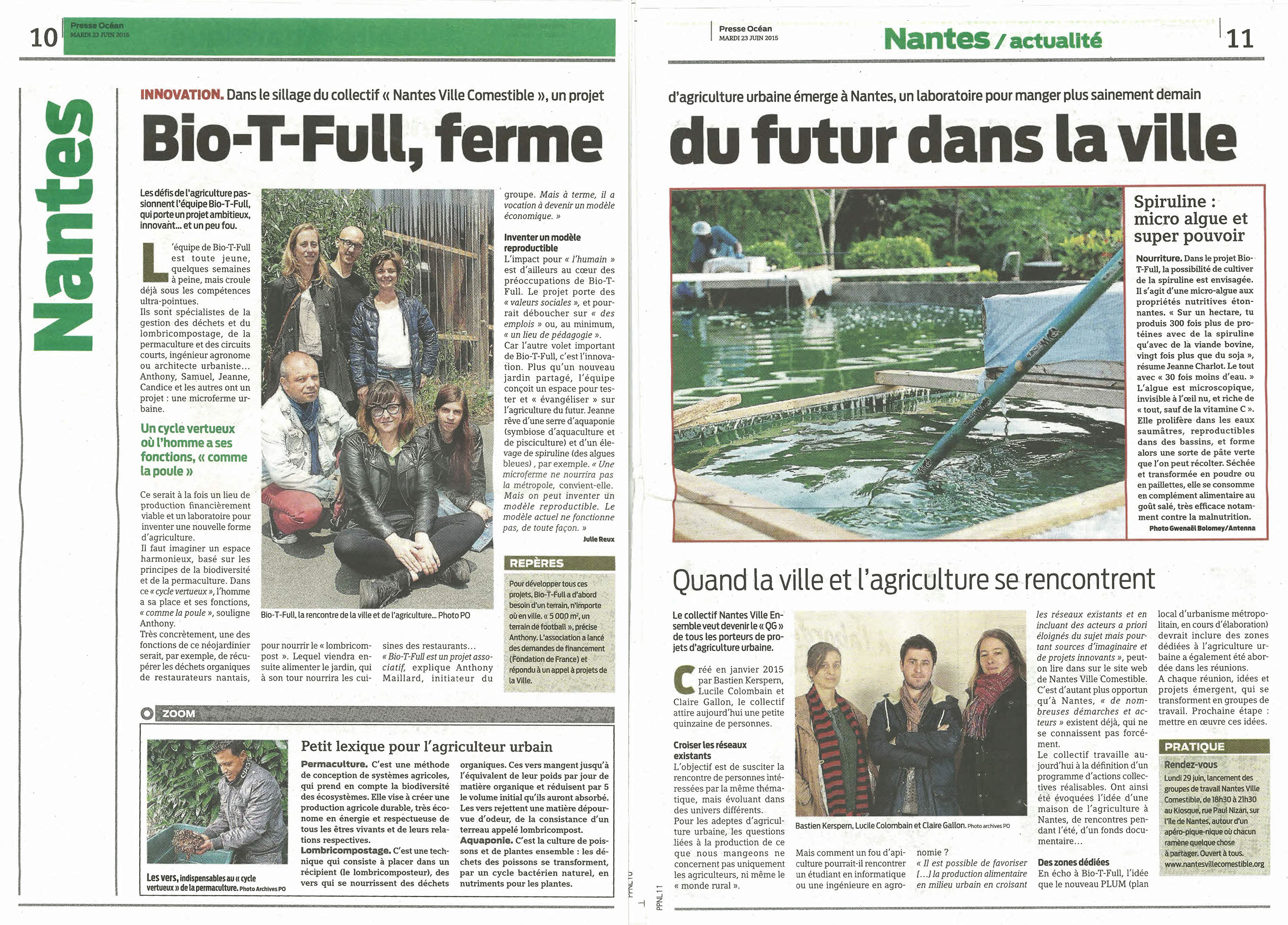 Bio-T-Full passe dans le journal local !